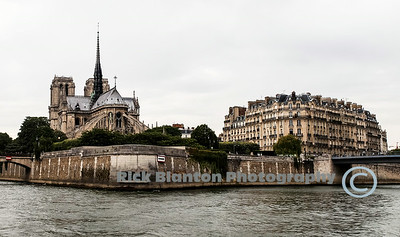 View of Notre Dame Cathedral from the Seine River