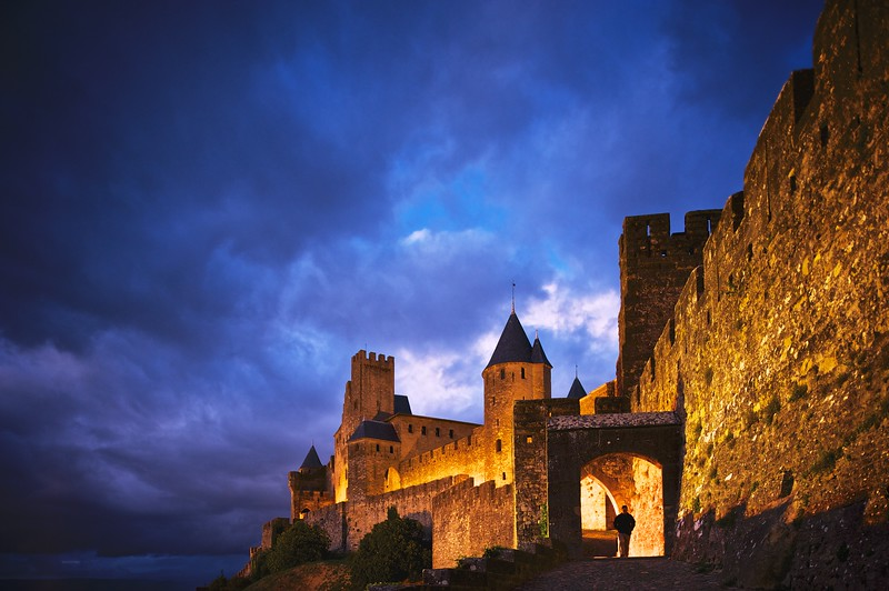 Carcassonne at Night