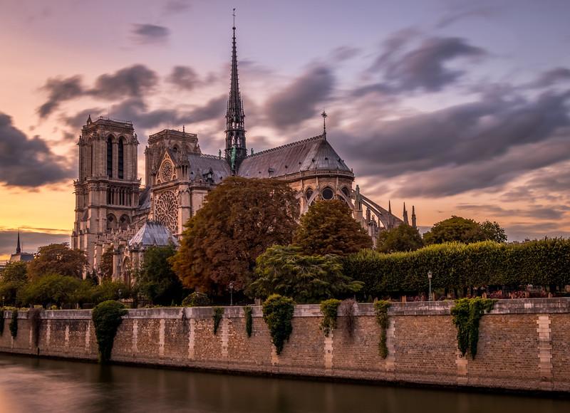 Sunset at Notre-Dame de Paris