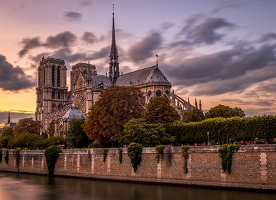 Sunset at Notre-Dame de Paris