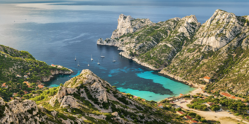 Calanque de Sormieu at sunrise