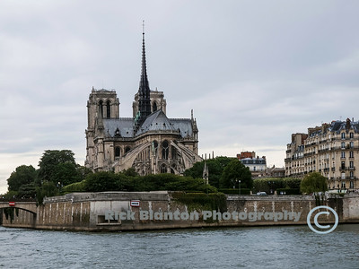 East side of Notre Dame Cathedral, Paris