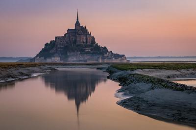 Mystical Morning - Mont Saint-Michel, France