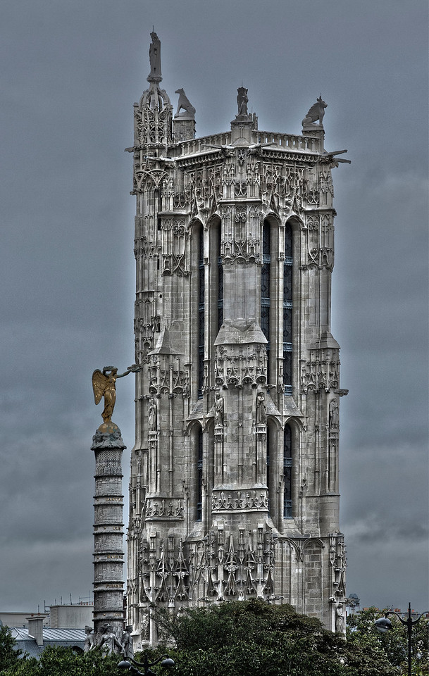 Chatelet Tower in Paris, France.