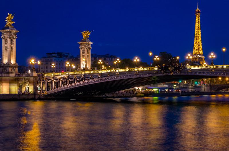 All Lit Up - Pont Alexandre III, Paris, France