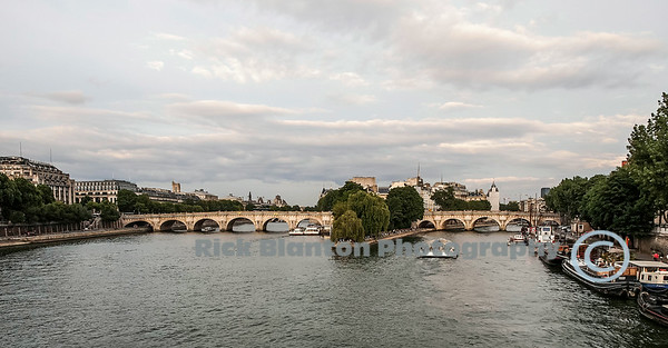 View of Paris from The Seine River