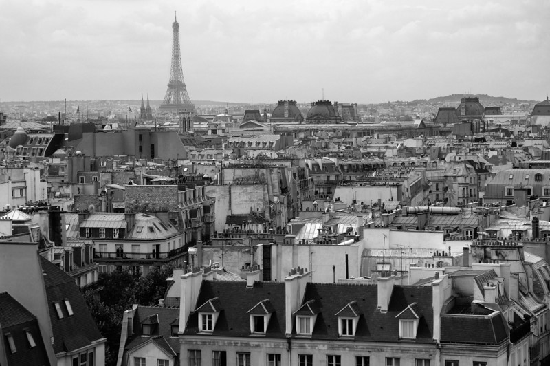 Paris rooftops and the Eiffel Tower