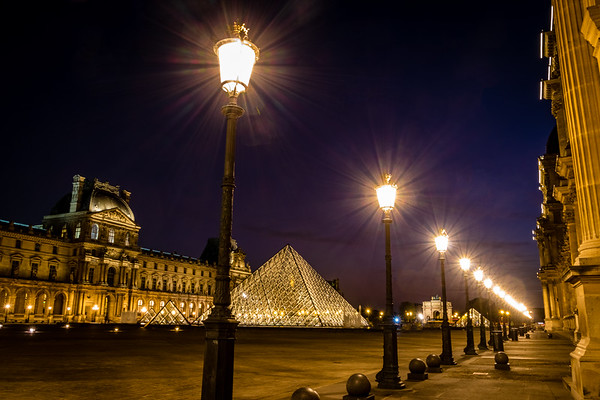 Bursts of Light - The Louvre, Paris, France