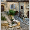 Cobblestone Street in Gordes, France