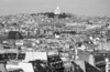 Rooftops and Sacre Coeur on Montmartre, Paris