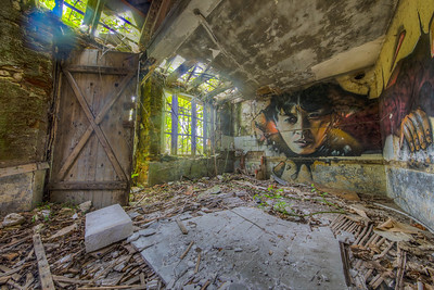 Abandoned Building, Amilly, Centre-Val de Loire Region, France