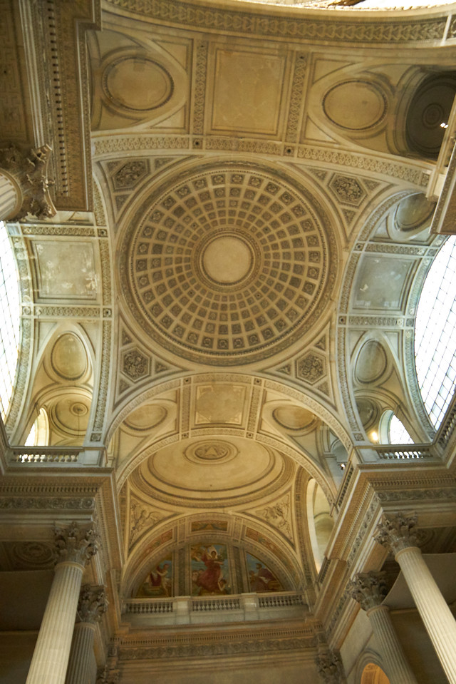 Inside the Pantheon; shot of ceiling, shot with super wide angle 12mm Prime