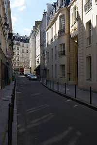 Our street for the first Paris Airbnb
