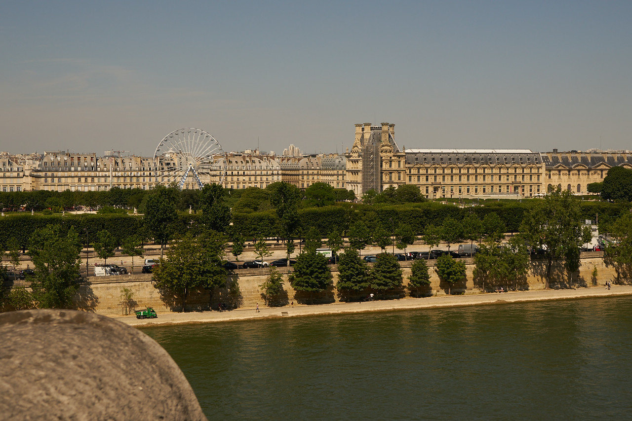 Looking across the river... near the Louvre Museum