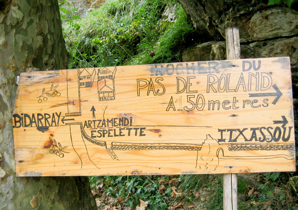 A footpath to Col de Roncevaux, where Hruoland (Roland) died 15 August 778 while defending Charlemagne against Basques freedom fighters - The need for self-determination continues