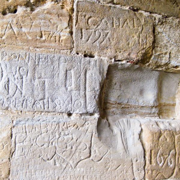 Ancient graffiti - Prison cell at Château de Foix, Ariège