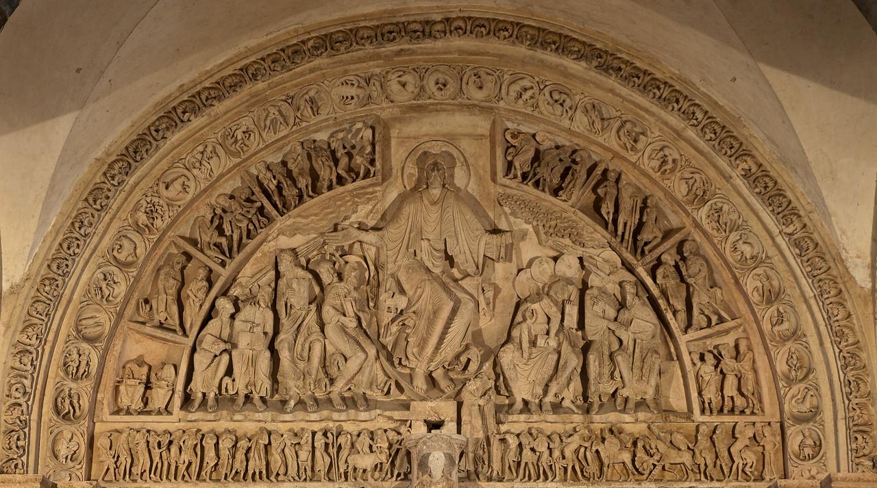 Vezelay Sainte-Madeleine Abbey Narthex Tympanum, Christ in Majesty