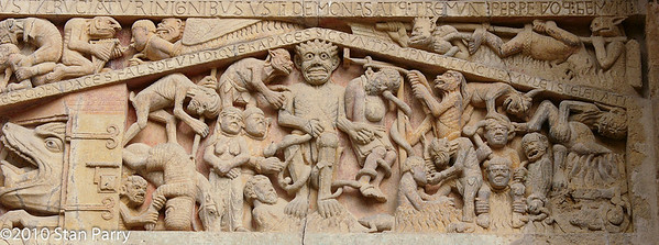 Abbey Church of Saint Foy Tympanum, The Damned