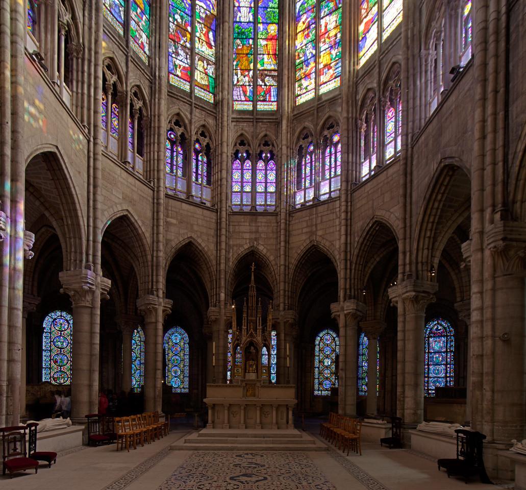 Saint-Denis Basilica Choir Hemicycle and Ambulatory Windows