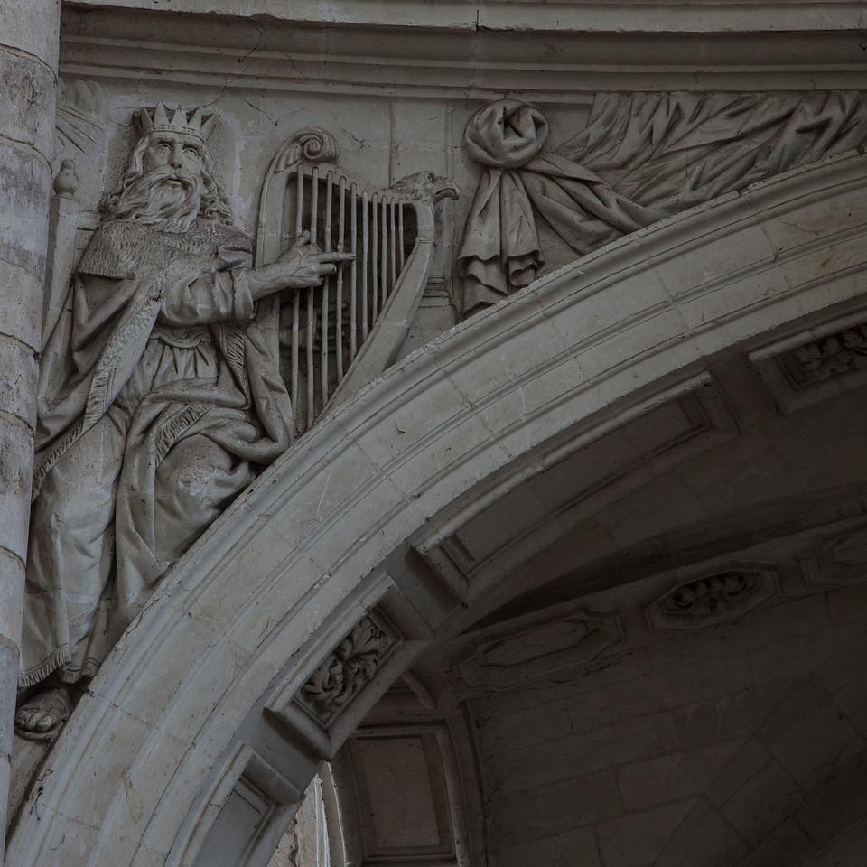 Saint-Benoit-sur-Loire Abbey Organ Loft Arch, King David