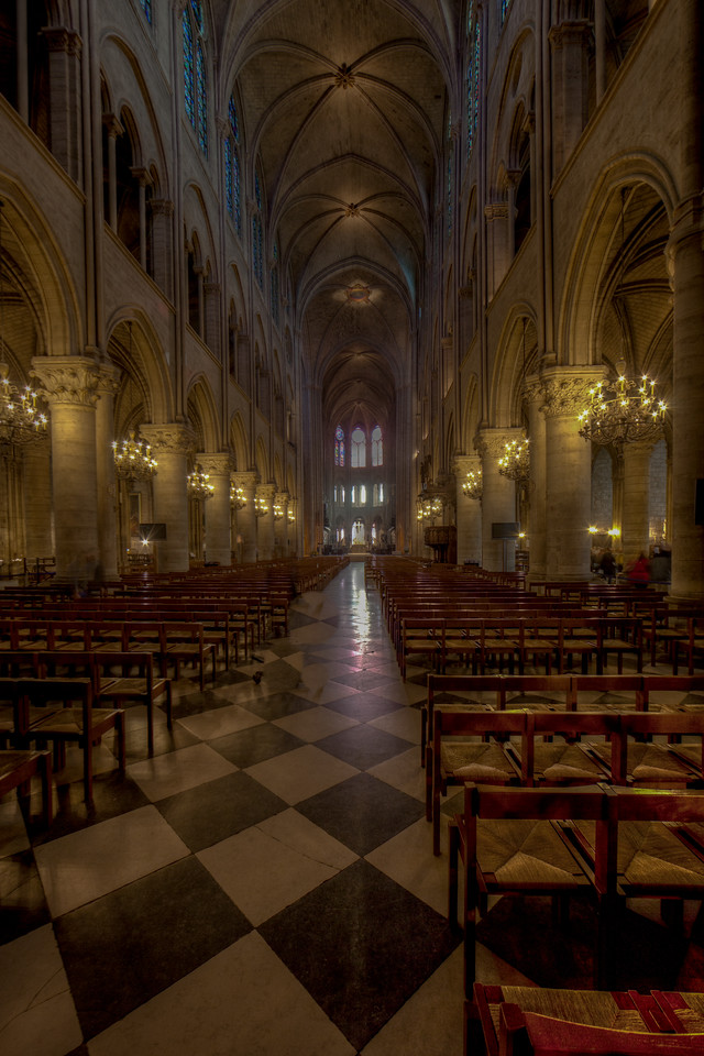 Paris, Notre Dame Cathedral Nave and Choir