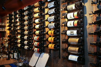 Some of the wines at Francesca's Wine Bar and Bistro.  Photo by John Fitts