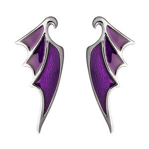 Disney X RockLove SLEEPING BEAUTY Maleficent Dragon Wing Earrings