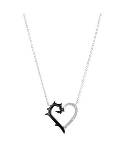 Maleficent Villains Thorn Heart Pendant Necklace