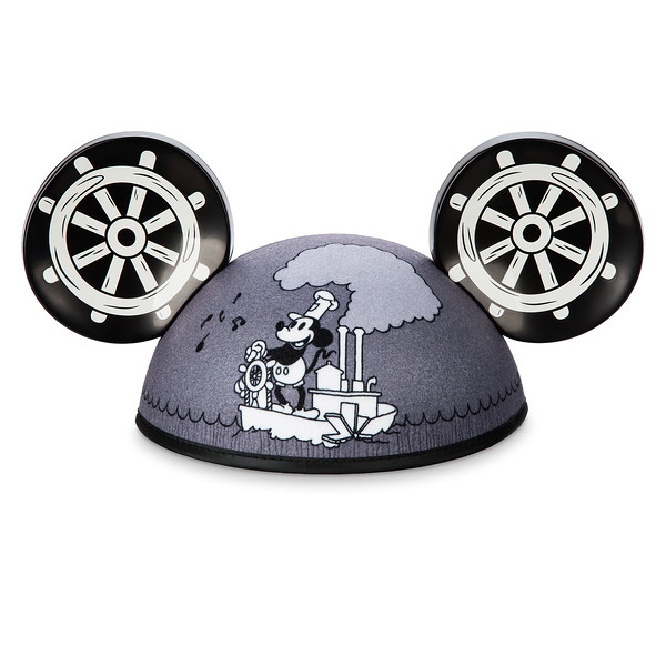 Mickey Mouse ''Steamboat Willie'' Ear Hat for Adults
