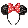 Minnie Mouse Sequined Ear Headband with Satin Bow