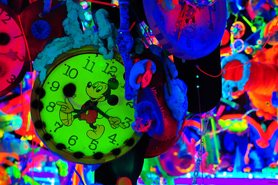 Mickey Mouse Cosmic Cavern by Kenny Scharf.  'Mickey: The True Original Exhibition""