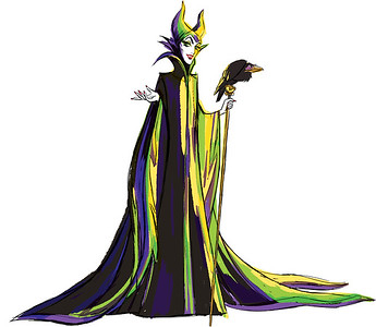 Disney Character Sketch of Maleficent