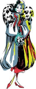 Disney Character Sketch of Cruella De Vil