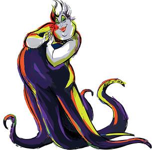 Disney Character Sketch of Ursula