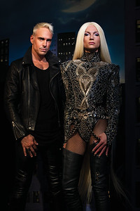 Photographer Nadia Lee Cohen and Designer Phillipe Blond and Creative Director David Blond
