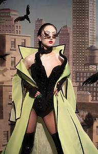 Photographer Nadia Lee Cohen and model Leah Kim inspired by Maleficent