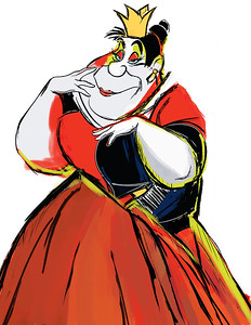 Disney Character Sketch of the Queen of Hearts