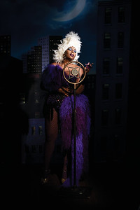 Photographer Nadia Lee Cohen  and model Lauren Coote inspired by Ursula