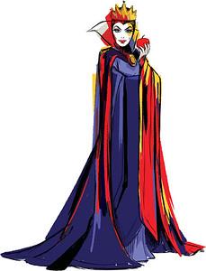 Disney Character Sketch of The Evil Queen