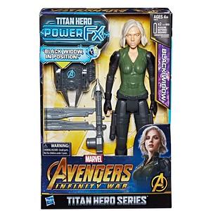 MARVEL AVENGERS: INFINITY WAR TITAN HERO 12-INCH POWER FX Figures - Black Widow