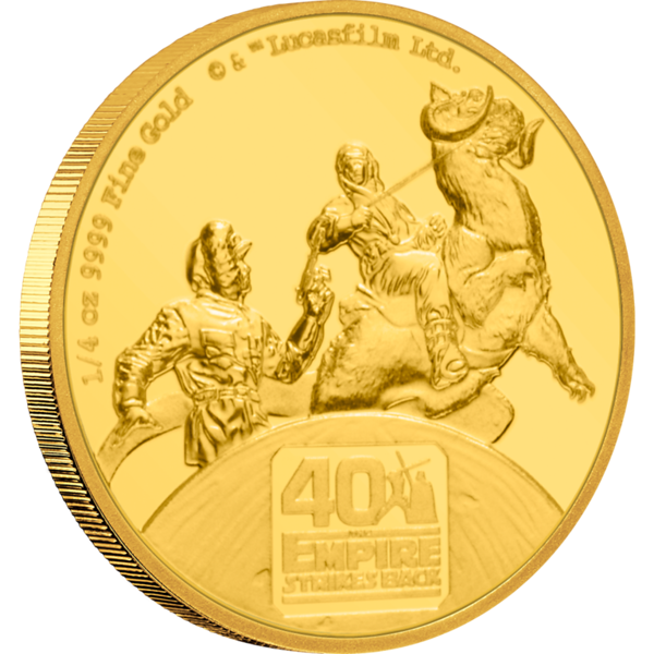 Star Wars: The Empire Strikes Back 40th Anniversary 1/4oz Gold Coin