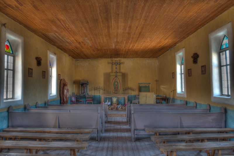 This historic church on the hill in Terlingua, Tx., is usually locked, but this morning we found the doors open and couldn't resist photographing the interesting interior.