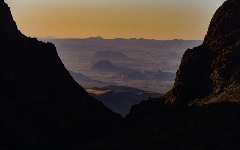 Chisos Desert at Sunset