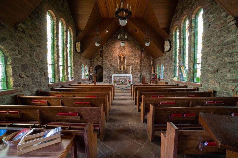 Chapel on the Rock, Floor View.