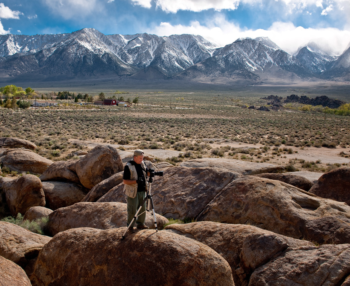 Rick and I ventured to the South end of the Alabama Hills and explored an area that he hadn't photographed before.  As you can see, we climbed up on some boulders and jumped from rock to rock to capture our images of this new-to-us part of the Hills.