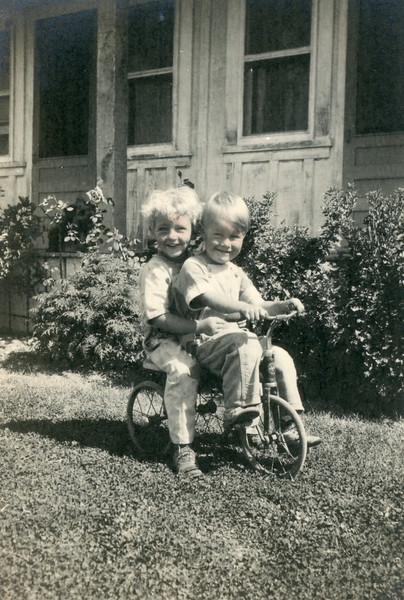 Robert James, Frank McDonald; August 1927, Santa Barbara.