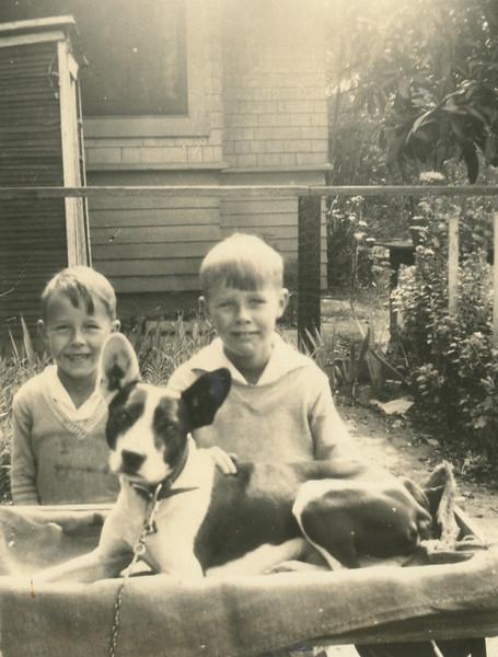 Howard, Frank, and Pal.
