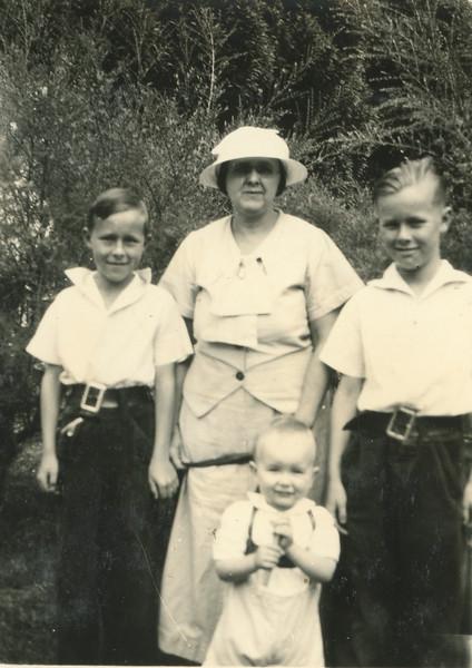Howard, Gladys, Frank, Doug. July 2, 1935.