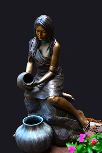 DSC_0199E Indian girl pot statue frank sandez pl edit DEx