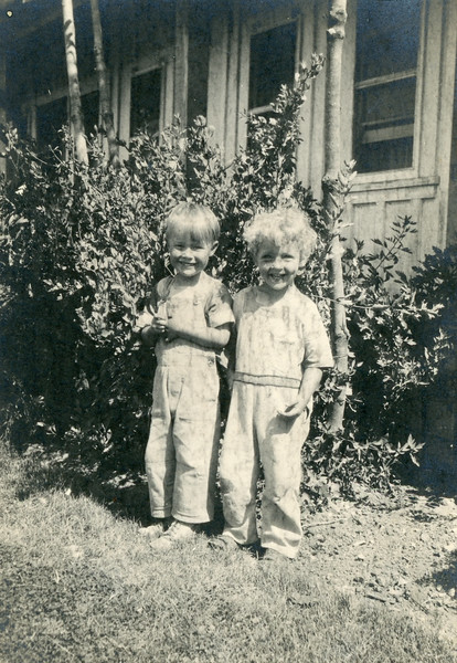 Frank McDonald and his cousin Robert James.